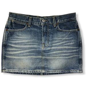 LUCKY BRAND vintage inspired dungarees denim Skirt